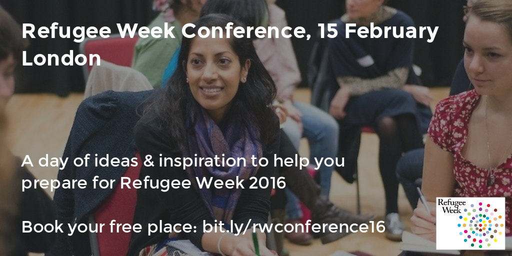 Refugee Week conference 2016 graphic