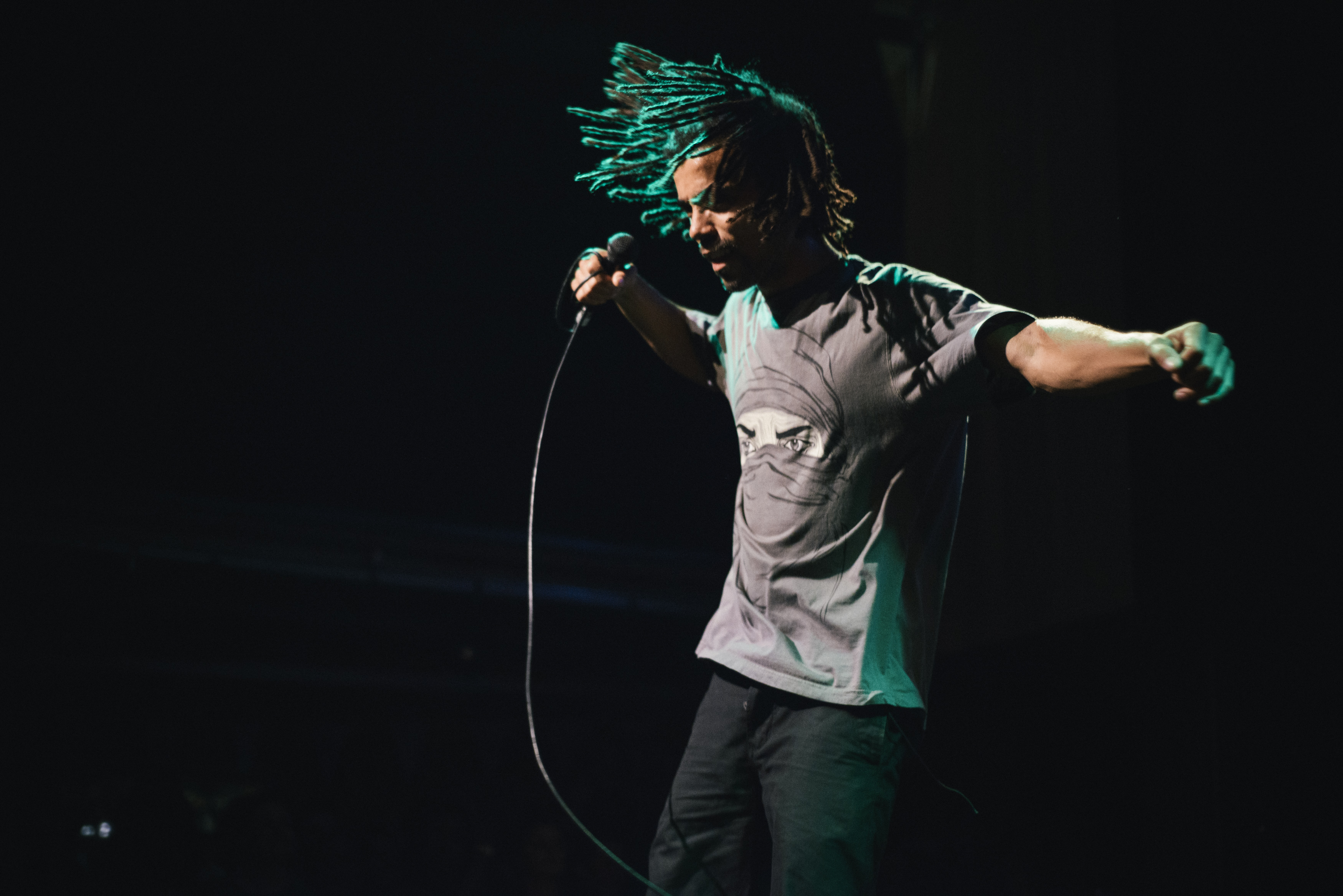 Akala @ Rick Mix for Refugee Week produced by Counterpoints Arts. Photo © Marcia Chandra.